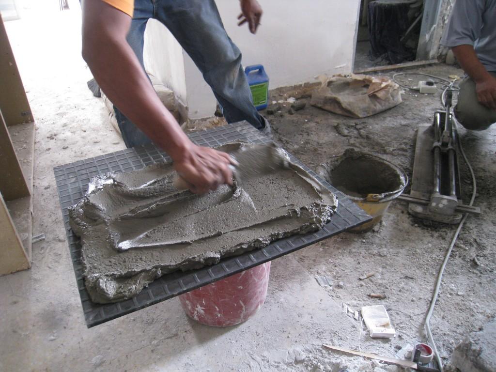 Ss6 Renovation Rumahku Syurgaku Disebabkan Kesuntukan Diy Memasang Jubin Dinding Eizil Cara Pasang Mozek Lantai